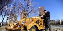 Китаец сконструировал экологичный электрокар из дерева