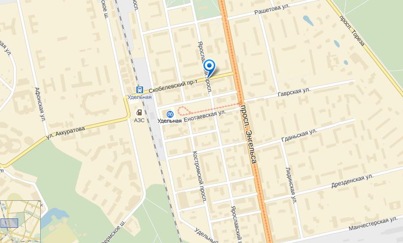 Screen Yandex.maps.