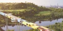 Сложенные контейнеры превратят в мост