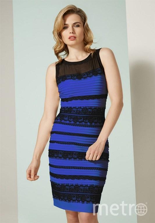 Фото синего платья с черным