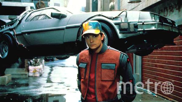 """Кадр из фильма """"Назад в будущее 2""""."""