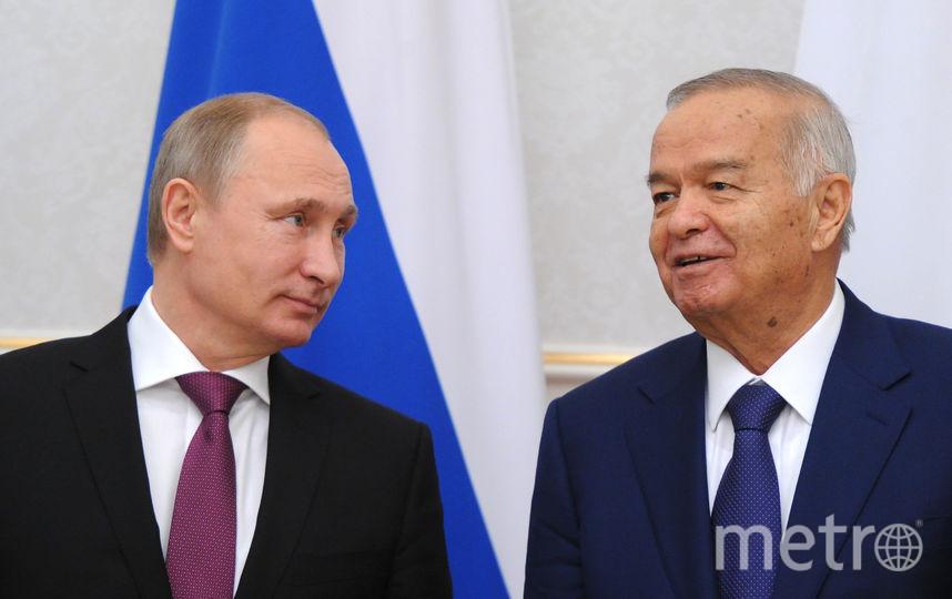 Президенты двух стран Владимир Путин и Ислам Каримов / AFP.