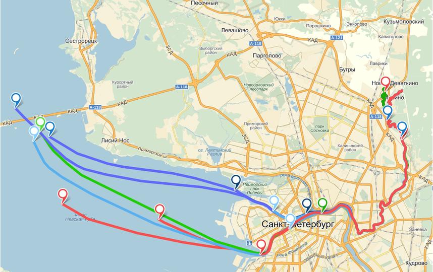 """Скриншот """"Яндекс.Карт"""" с сайта koprotravel.info."""