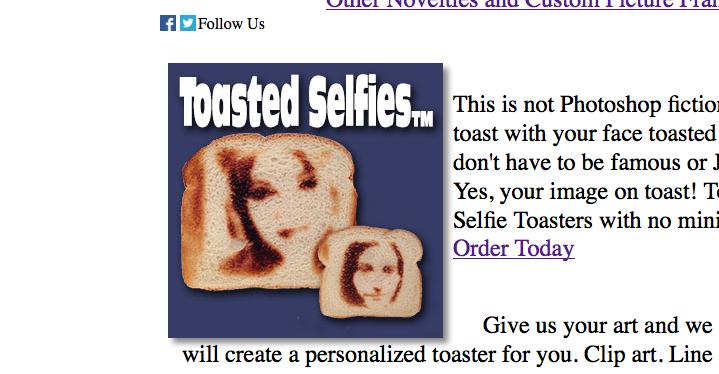 скриншот с сайта burntimpressions.com.