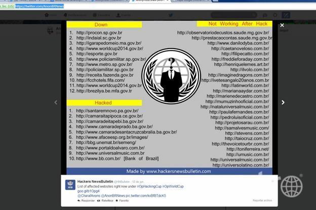 Список сайтов, подвергшихся атаке, постоянно пополняется.