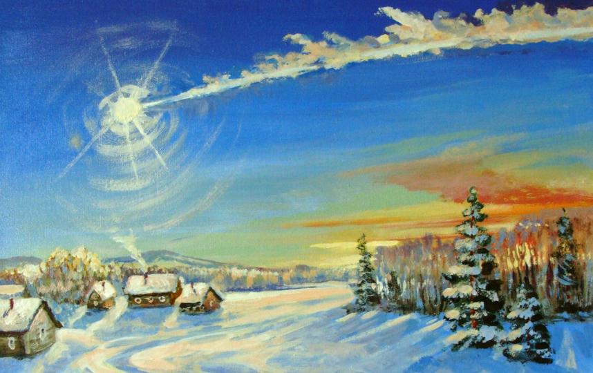 Метеорит подарил вдохновение челябинским художникам ...
