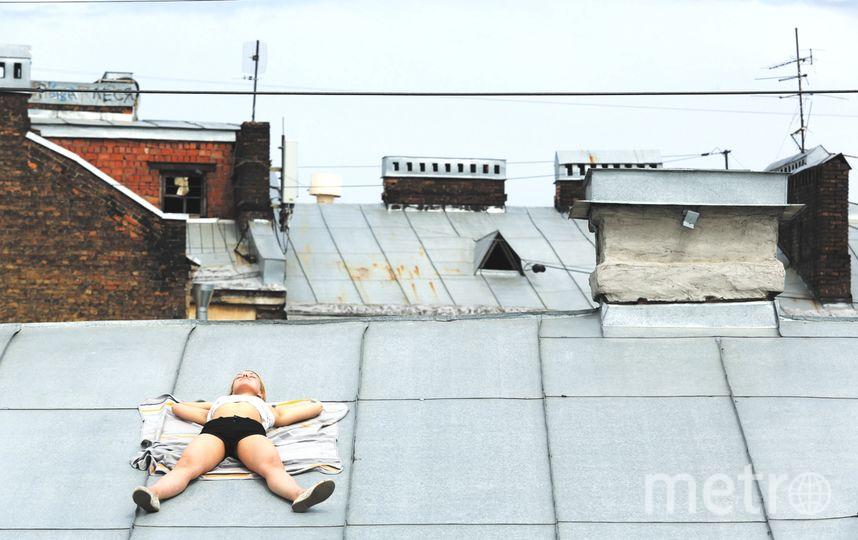 Фото загорают на крыше, акробатике суют три хуя