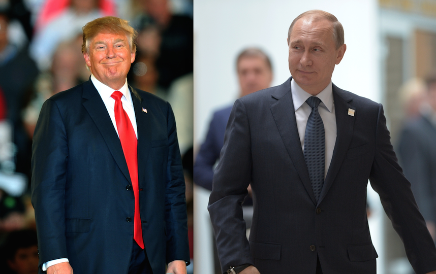 Дональд Трамп и Владимир Путин. Фото Getty