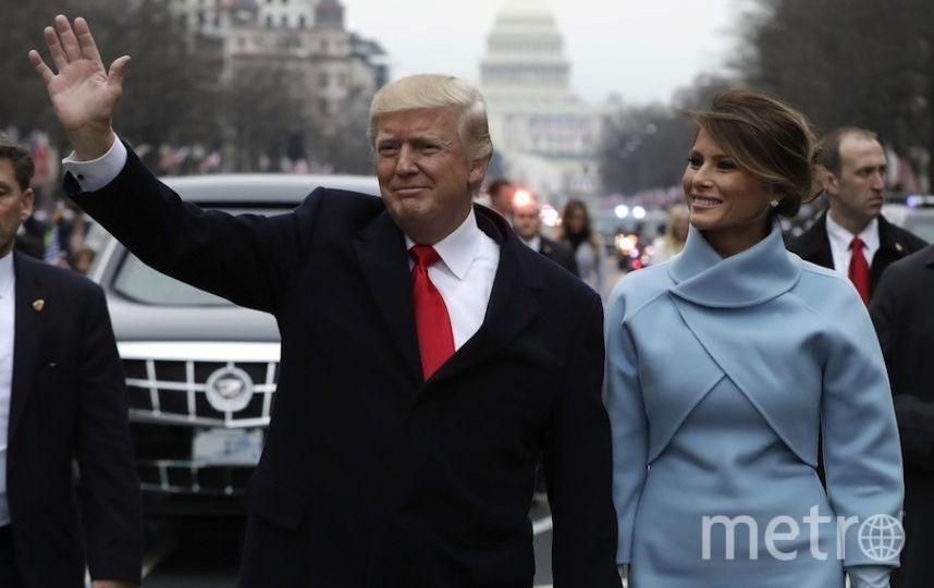 Дональд Трамп с супругой. Фото AFP