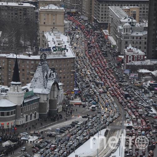 РИА Новости. Автомобильная пробка. Фото РИА Новости.