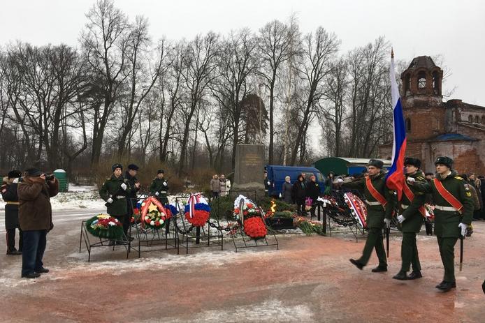 В Петербурге прошли памятные мероприятия в честь 73 годовщины снятия блокады. Фото Администрация Петродворцового района, Getty