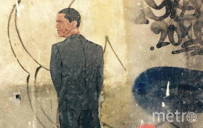"""В Петербурге появился """"Писающий Обама"""". Фото предоставлены художниками из движения """"Явь"""""""