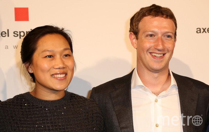 Марк Цукерберг с женой. Фото Getty