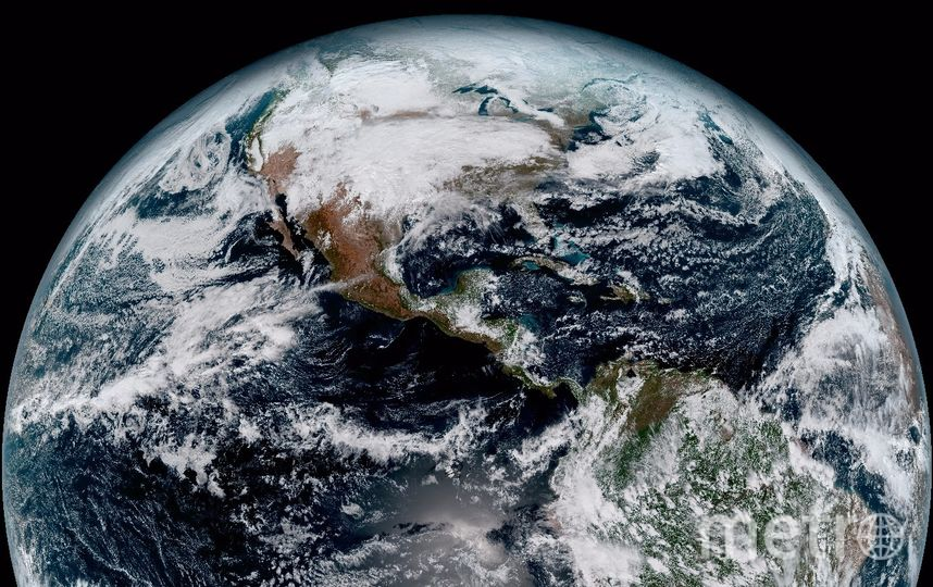 Снимок западного полушария Земли. Фото NOAA/NASA