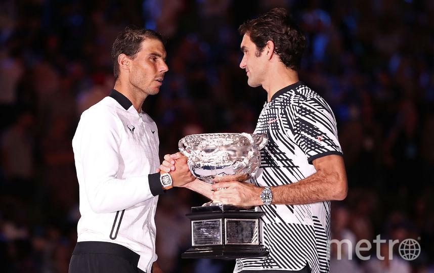 Роджер Федерер и Рафаэль Надаль. Фото Getty