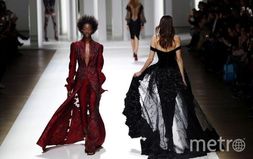 Неделя моды в Париже. Фото AFP
