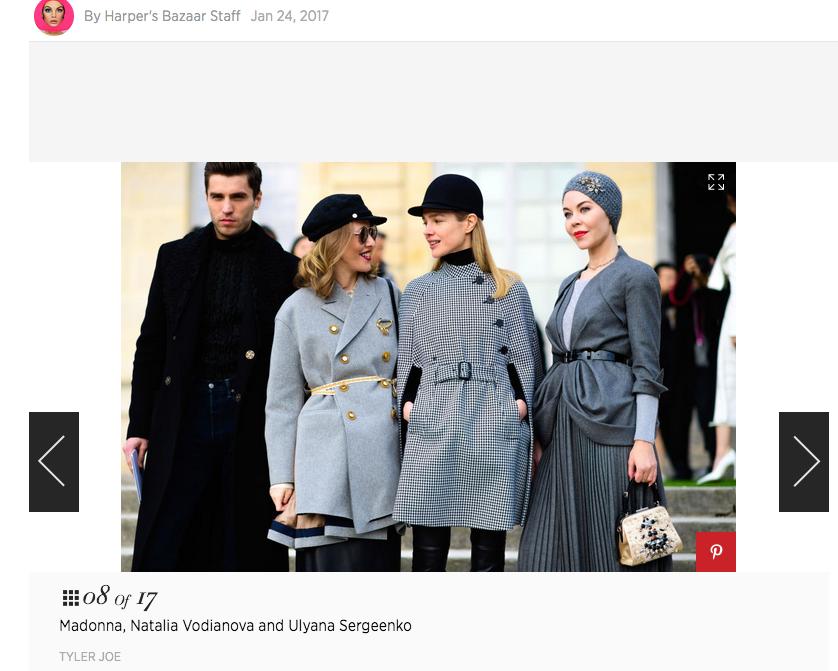 . Cкриншот harpersbazaar.com.