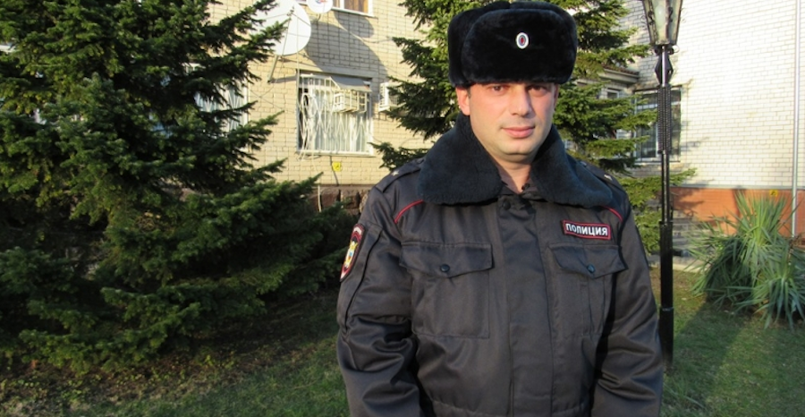 Майор краснодарской полиции Леван Мебония. Фото МВД.РФ