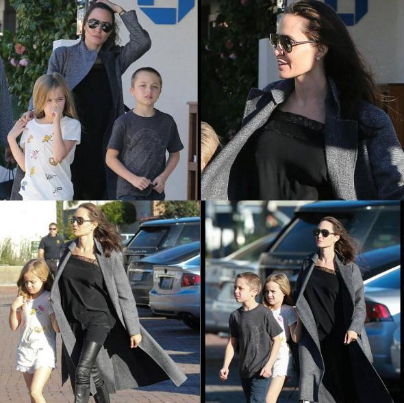Анджелина Джоли с детьми в Малибу. Фото Instagra,/keepingupwiththepitts