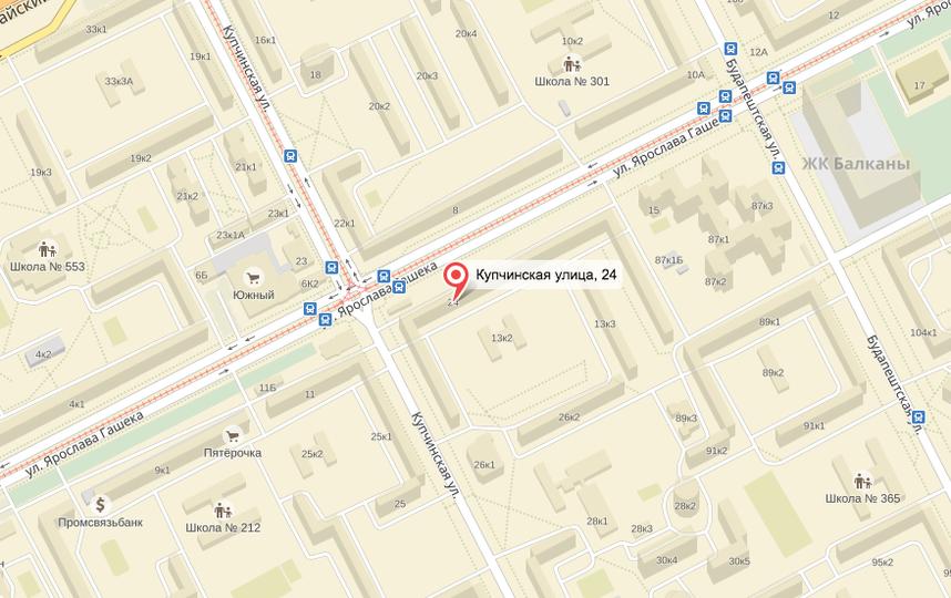 Притон размещался на Купчинской. Фото Яндек.Карты