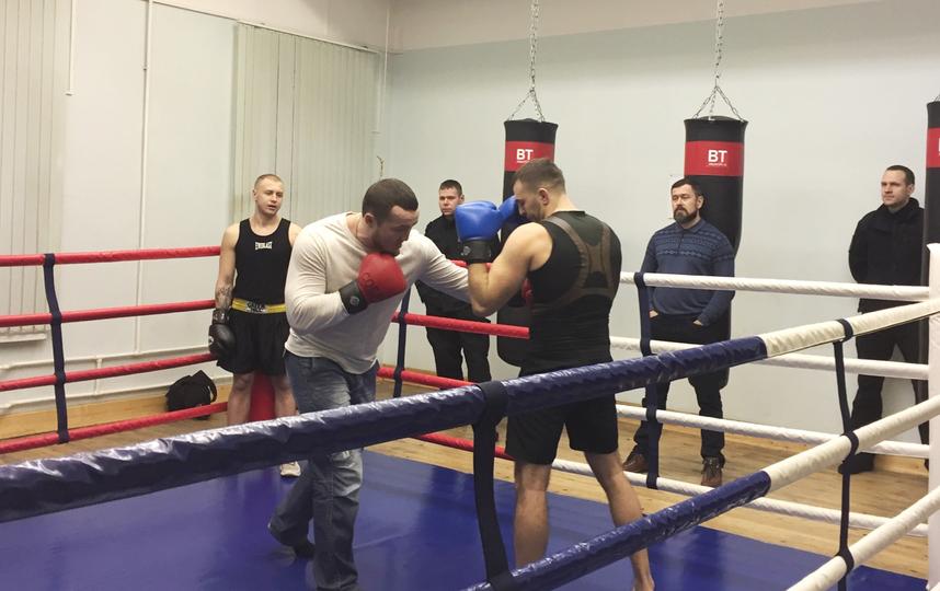 Поветкин и Лебедев провели тренировку для сотрудников Росгвардии Петербурга. Фото Пресс-служба Росгвардии Петербурга