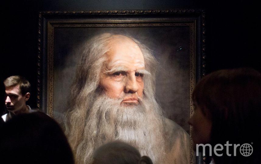 "Автопортрет Леонардно да Винчи. Фото Василий Кузьмичёнок, ""Metro"""