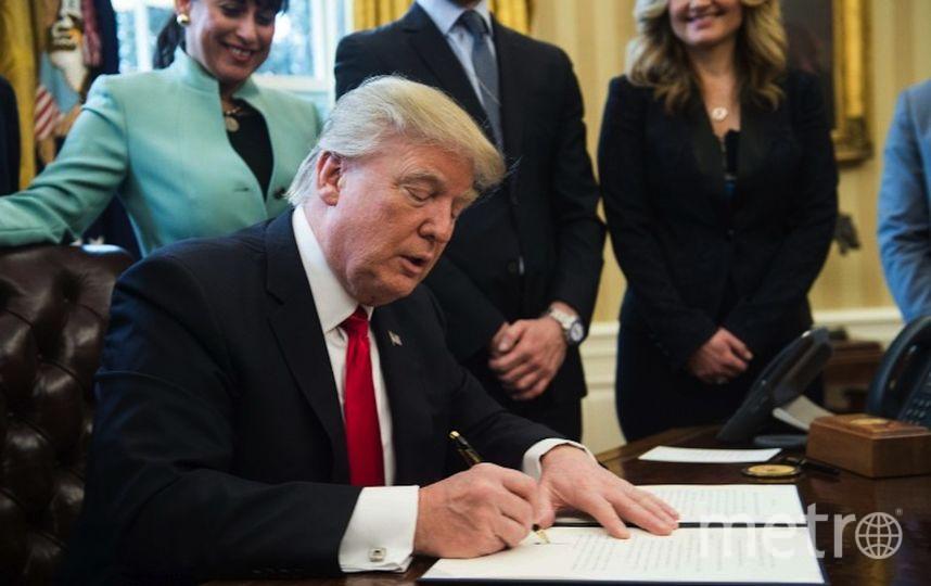 Дональд Трамп на новом рабочем месте. Фото AFP