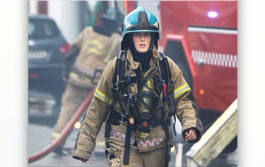 Аскер Гунн Нартен работает в пожарной команде. Фото Instagram/narten86