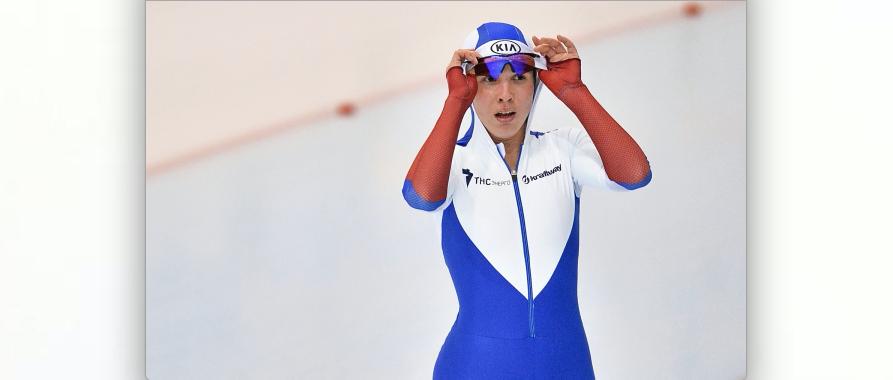 Александра Качуркина после финиша. Фото РИА Новости