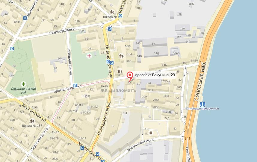 Крану упал на проспекте Бакунина. Фото Яндекс.Карты