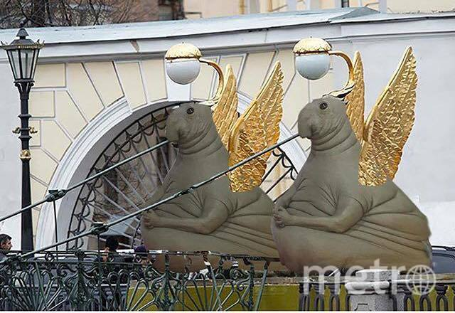 Пухлый Ждун меняет профессию. Фото Facebook/Кермен Манджиева