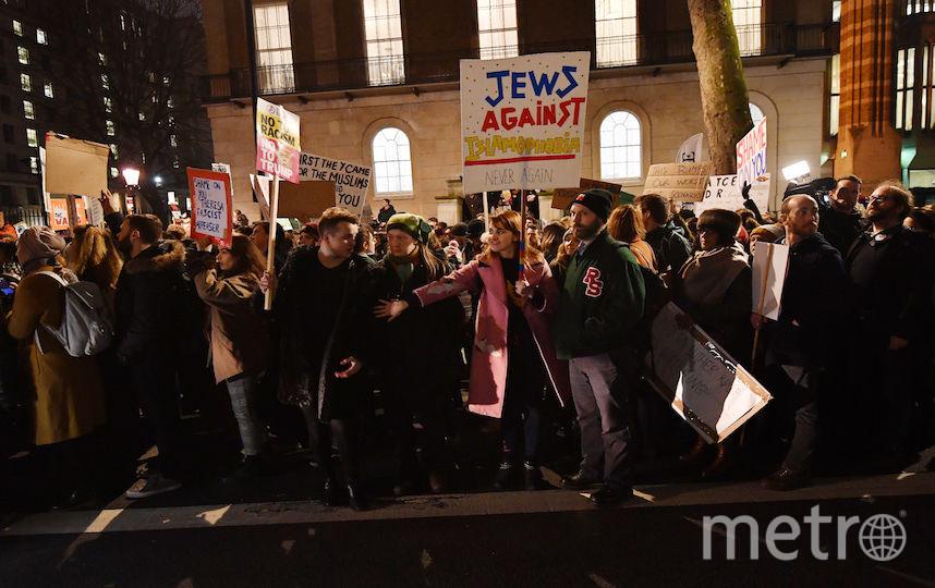 Демонстрация против визита Трампа в Великобританию. Фото Getty
