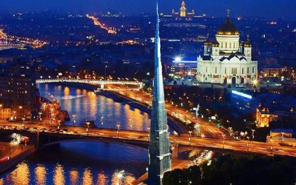 "Башня ""Бурдж-Халифа"" в Москве. Фото Instagram/mskdreams"