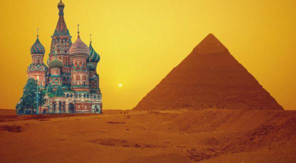 Собор Василия Блаженного в египетских песках. Фото Instagram/mskdreams