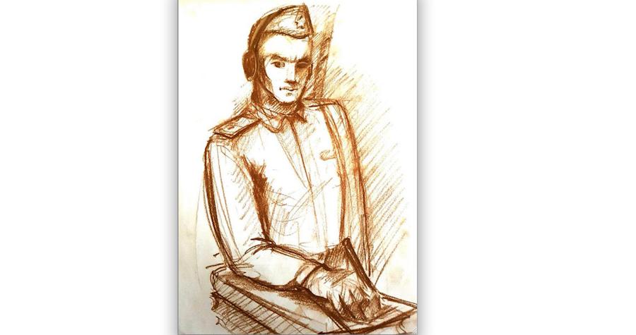 Модель памятника военному переводчику. Фото ]предоставлено инициаторами установки памятника