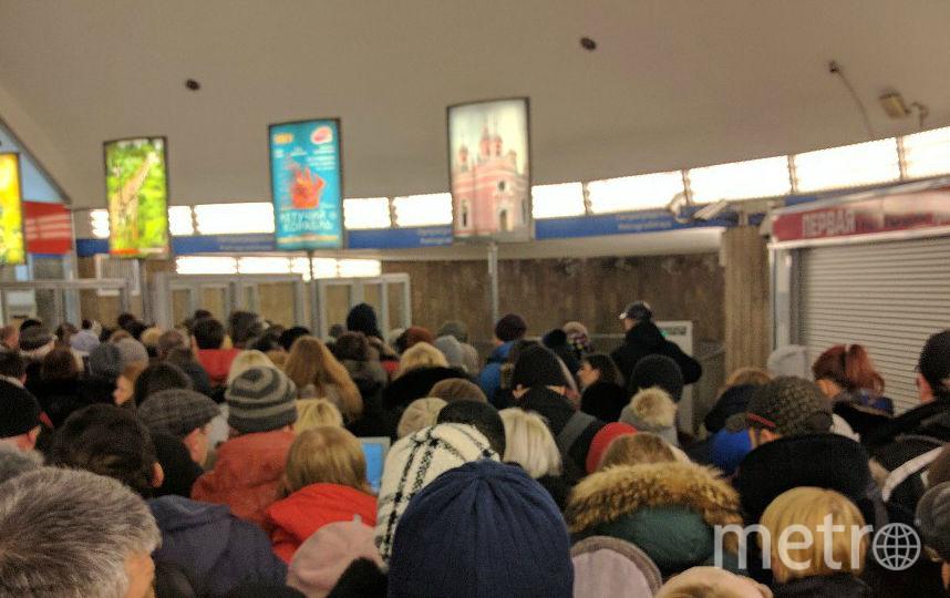 Фото пассажиров метро. Фото vk.com/spb_today