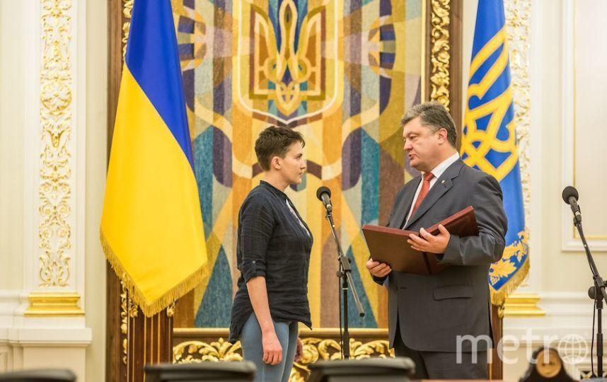 Надежда Савченко и Пётр Порошенко. Фото Getty