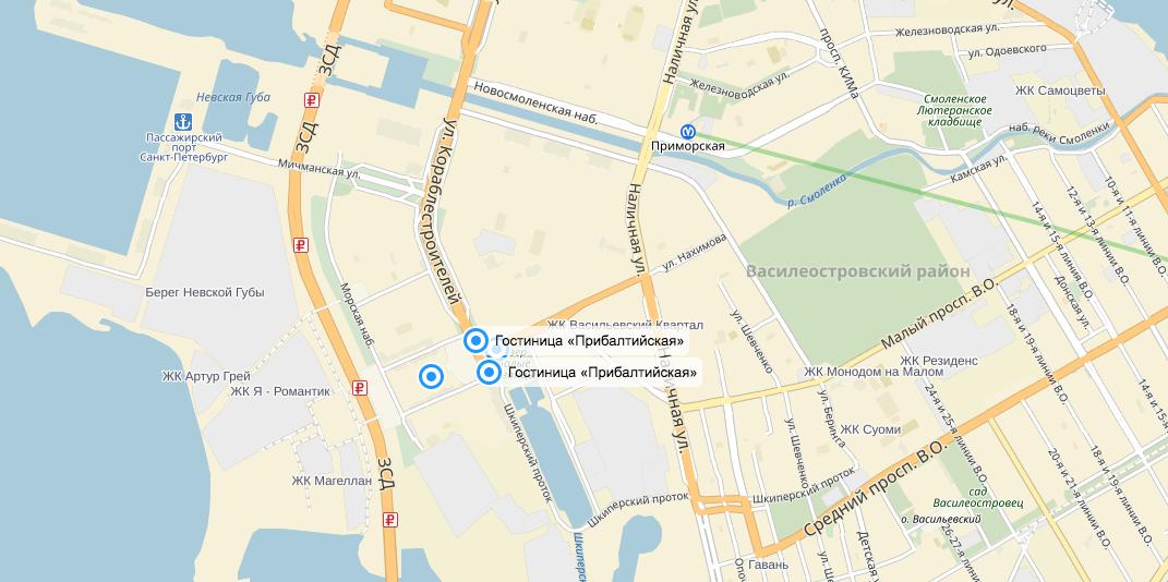 Гостиница. Фото Яндек.Карты