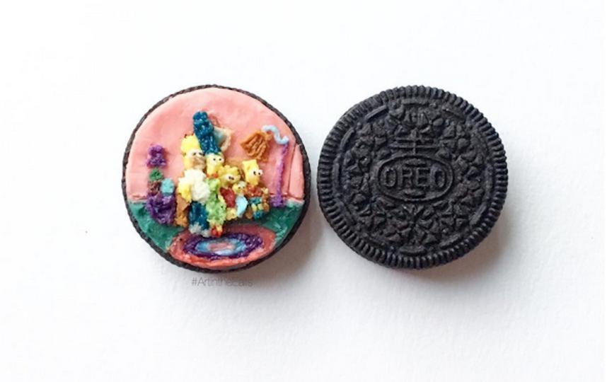 Картины на печенье. Фото Instagram: @tishacherry