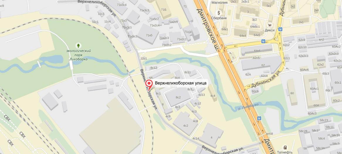 Инцидент произошёл на севере столицы. Фото yandex.ru/maps