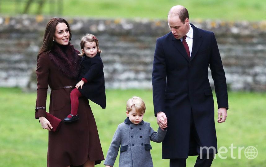 Герцогиня Кэтрин, принц Уильям и их дети. Фото Getty