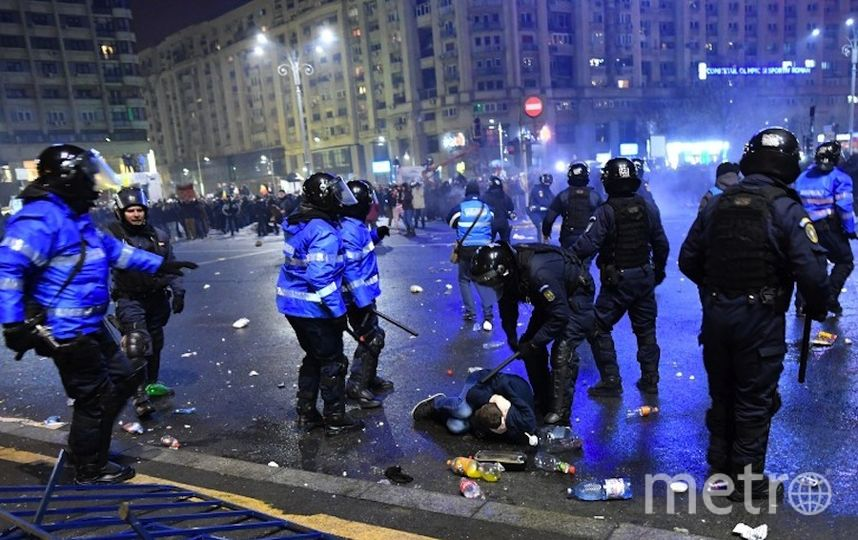 Протесты в Румынии. Фото AFP
