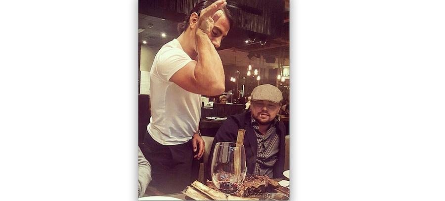 Леонардо Ди Каприо и Нусрета Гокче. Фото Instagram: @nusr_et