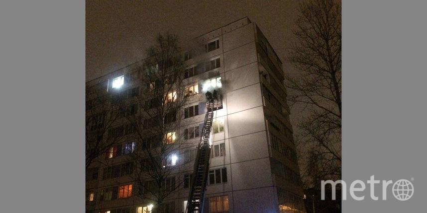 Мужчина умер впожаре вмногоэтажке воФрунзенском районе