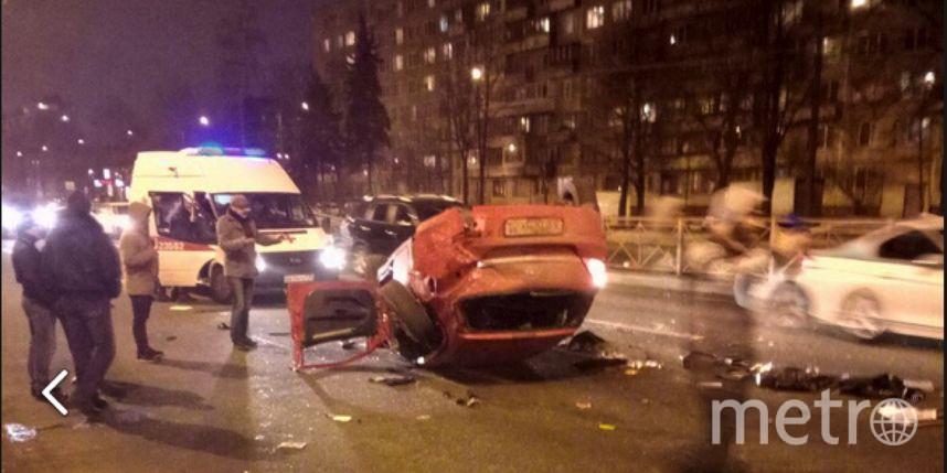 Перевёртыш наСофийской: шофёр стравмами, пассажир без сознания