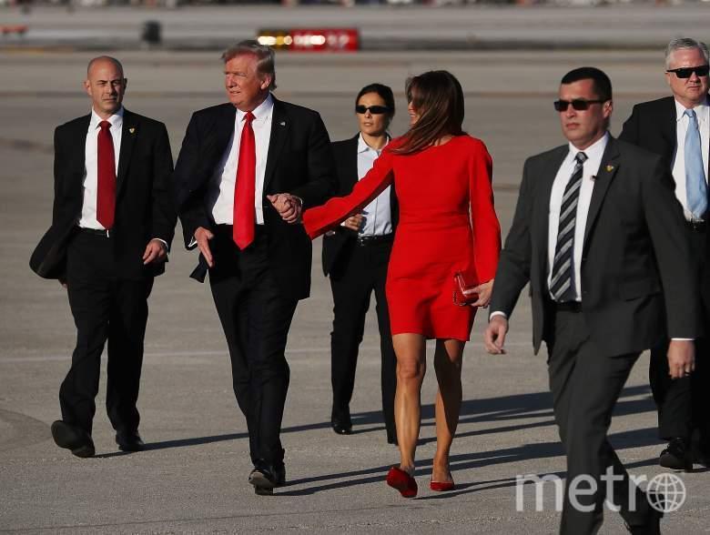 Дональд Трамп со своей супругой Меланьей. Фото Getty