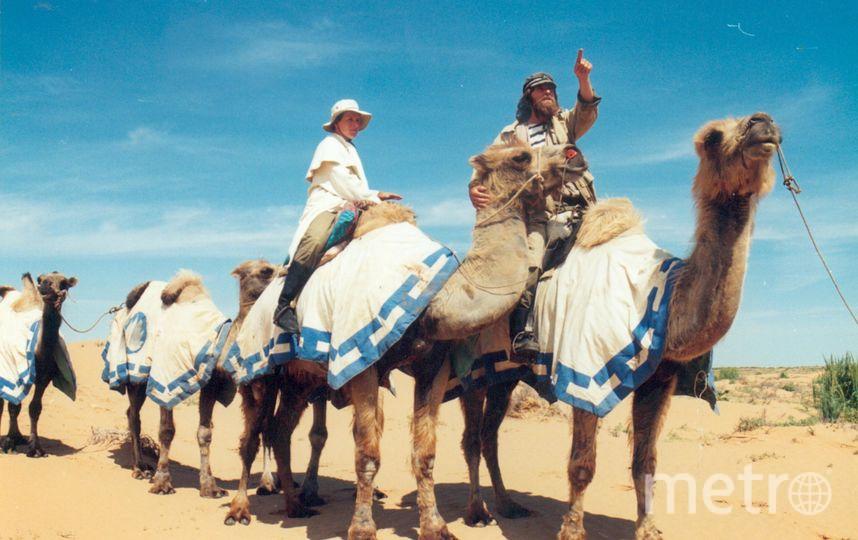 Фёдор с женой во время экспедиции по Великому Шёлковому пути в 2002 году. Фото из личного архива Конюховых