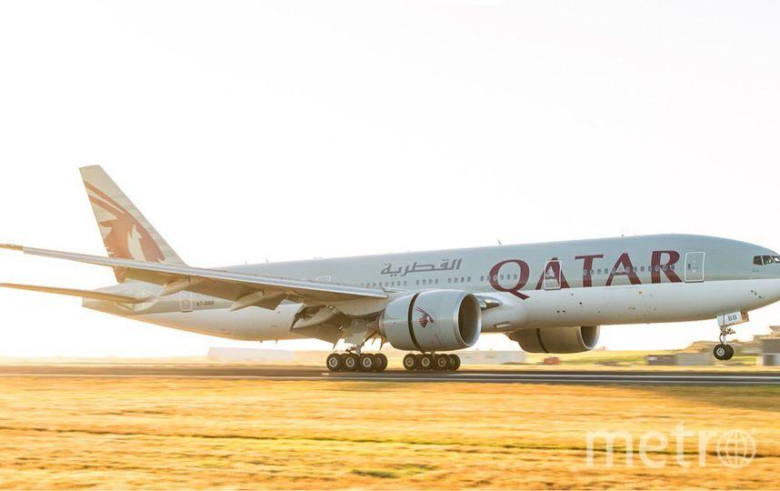 """Боинг-777"" компании Qatar Airways. Фото Официальный аккаунт Qatar Airways в Twitter."