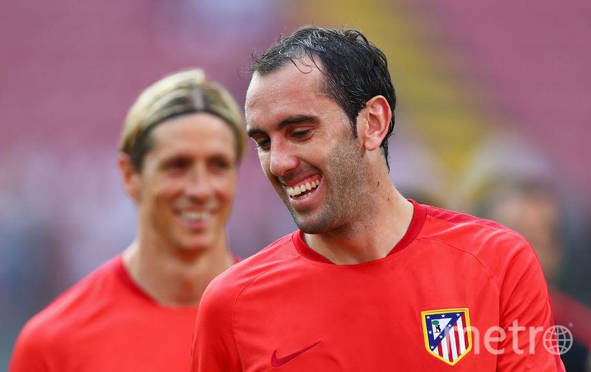 "Футболист ""Атлетико"" Диего Годин. Фото Getty"
