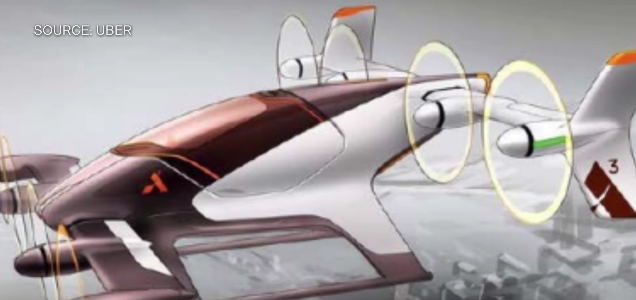 Летающий автомобиль. Фото Скриншот с официального YouTube канала Bloomberg Technology.